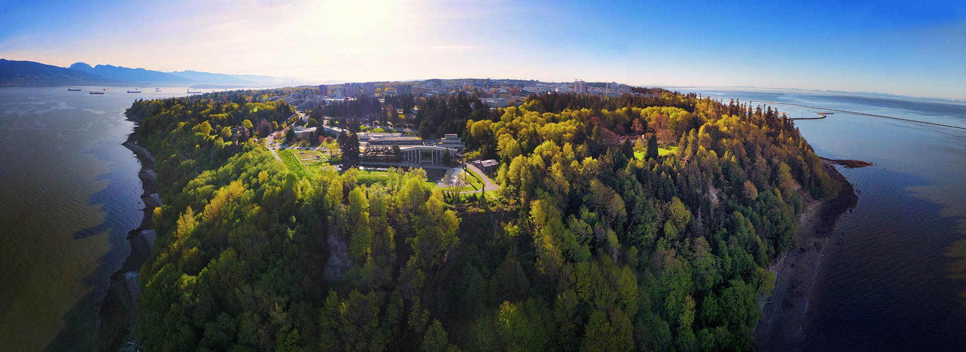 Aerial view of the University of British Columbia