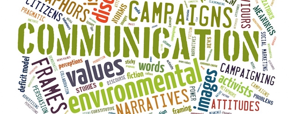 Tag cloud of environmental communication keywords
