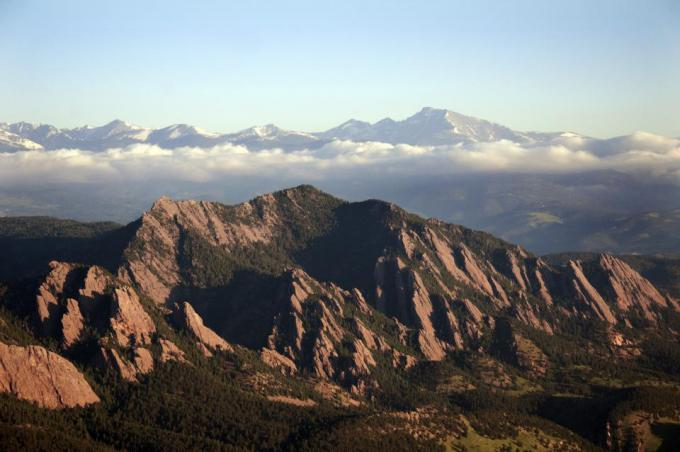 CU Boulder mountains