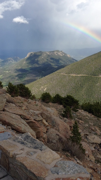 Rainbow in Rocky Mountain National Park